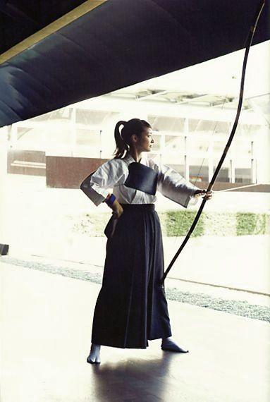 Archery is popular among women in Japan.