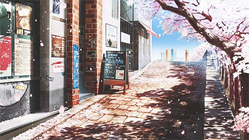 Looks like Anteiku from Tokyo Ghoul, but with the pink trees from Ouran Highschool Host Club