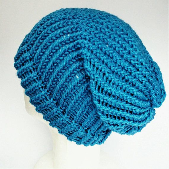 Check out this item in my Etsy shop https://www.etsy.com/uk/listing/548353245/slouchy-blue-beanie-blue-summer-beanie