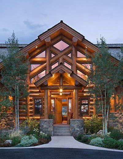 38 best log home exteriors images on pinterest timber homes log