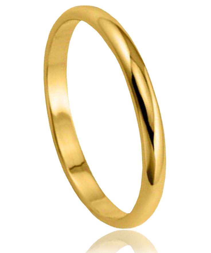 Alliance Or 9 carats demi-jonc fine - Bijoux GL