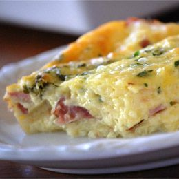 Baked brunch eggs: and with a few substitutions... Christmas breakfast!