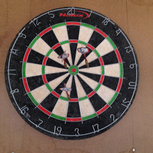 I love playing and having a Homebrew! Dartboard