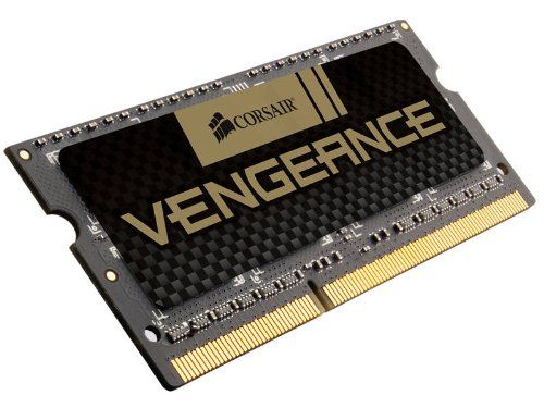 Corsair Vengeance 8GB (2x4GB)  DDR3 1600 MHz (PC3 12800) Laptop  Memory (CMSX8GX3M2A1600C9). Pin Out: 204 Pin. Density: 8GB (2x4GB Module). Corsair Vengeance 8gb (2x4gb) Ddr3 1600mhz Pc3 Sodimm Laptop Memory 204 Pin Cmsx8gx3m2a1600c9. Speed: 1600MHz. Voltage: 1.5V. Timing: 9-9-9-24. 8GB (2x4GB) DDR3 SODIMM kit for 2nd Generation Intel Core i5 and i7 notebooks. Limited Lifetime Warranty. Dimensions: width: 650, height: 500.