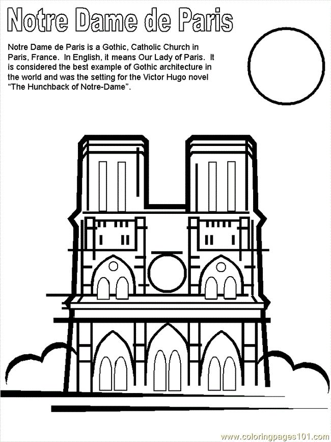 paris france coloring pages free printable coloring page notre dame countries france