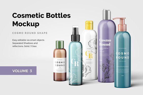 Cosmetic Bottles Mockup Vol 3 Cosmetics Mockup Cosmetic Bottles Bottle Mockup