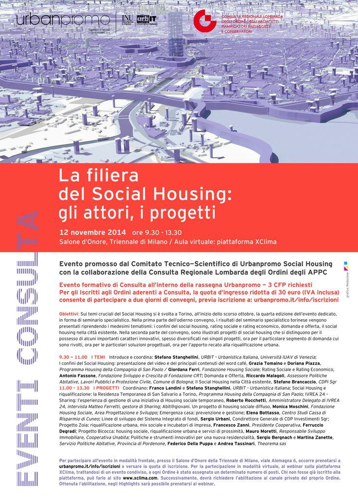"""Eventi Consulta all'Urbanpromo - 12.10.2014, ore 9.30 - progetto grafico: Redazione di """"AL"""""""