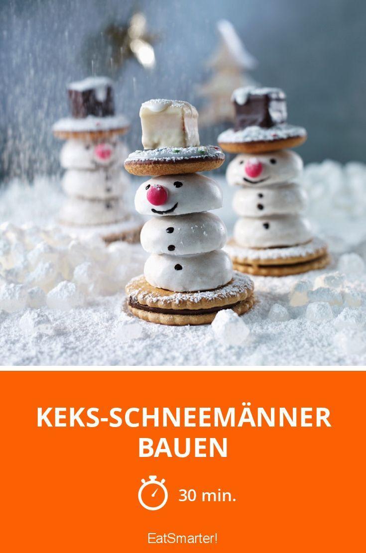 Keks-Schneemänner bauen - smarter - Zeit: 30 Min. | eatsmarter.de