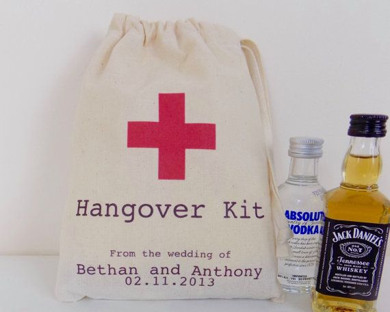 Wedding Favour Bags  Personalised Hangover by ThePersonalWeddingCo