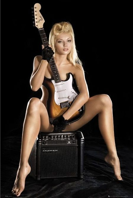sexy women with guitars