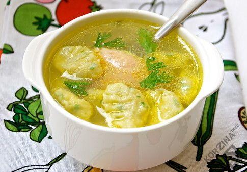 Рецепт Суп с клецками 6 ингредиентов по акции