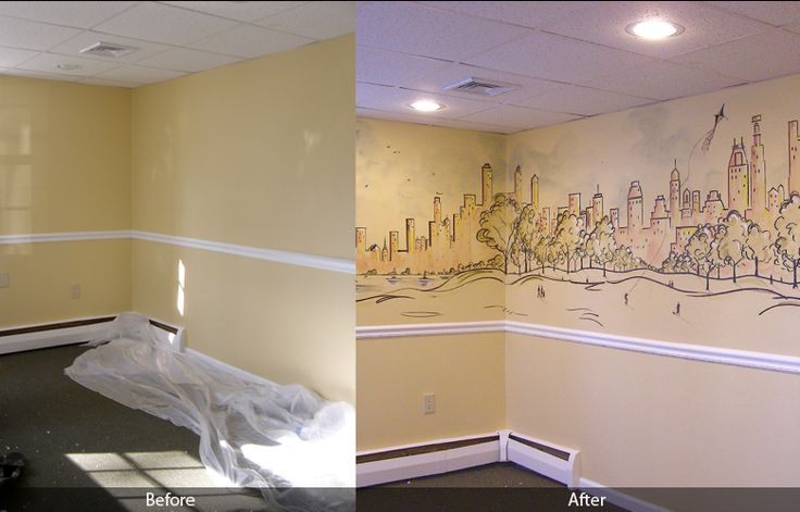 How To Paint D Wall Murals