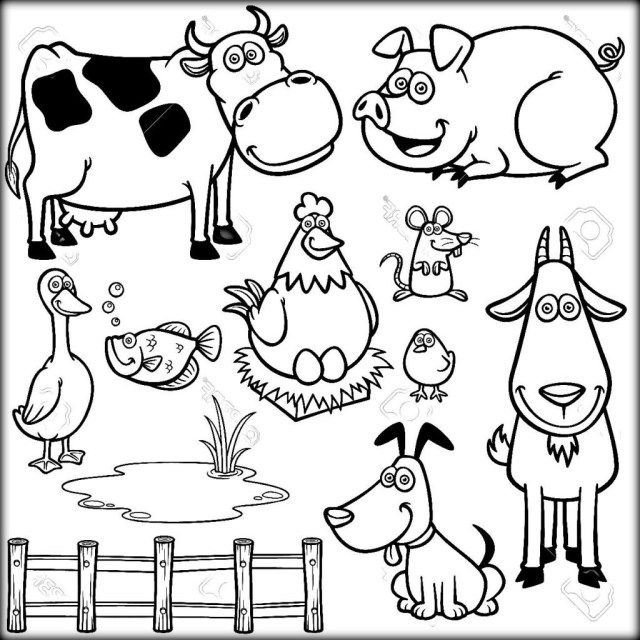 25 Inspiration Picture Of Farm Animals Coloring Pages Farm