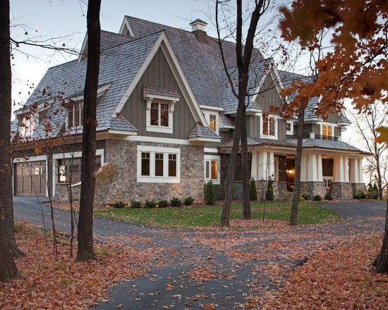 perfectDecor, Ideas, Dreams Home, Craftsman, Exterior Design, Dreams House, Exterior Colors, Traditional Exterior, Stones