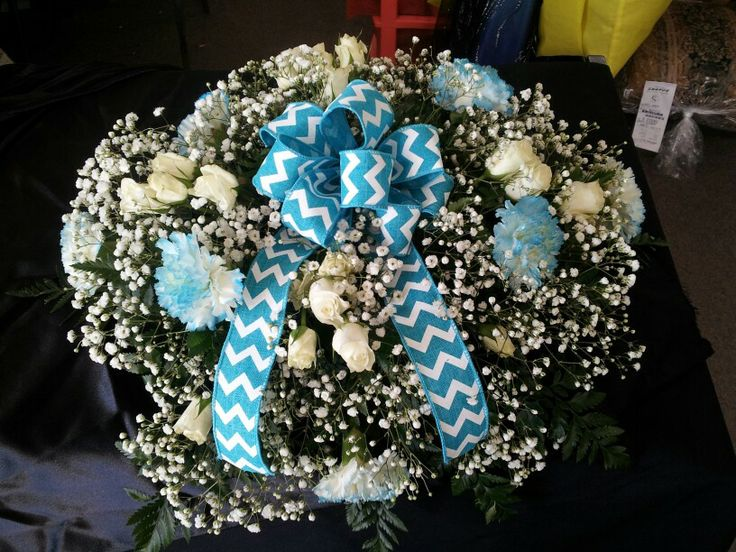 Baby Boy Casket Spray Floral Arrangements Pinterest