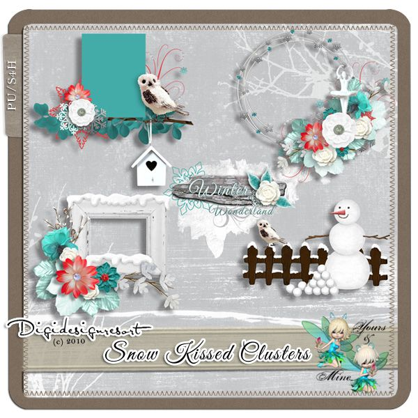 Snow Kissed Clusters (PU/S4O) by Yours & Mine Snow Kissed by Yours & Mine [ym-snow-kissed-clusters] - $2.93 : Digidesignresort