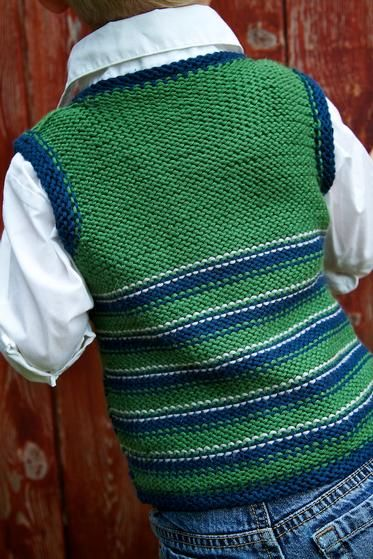 Oxford Child Vest - Knitting Patterns and Crochet Patterns from KnitPicks.com