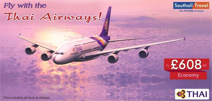 SouthallTravel introduces glorious offers on Thai Airways. Now fly anywhere in the world and make huge savings! Call for bookings now! http://www.southalltravel.co.uk/airlines/thai-airways/
