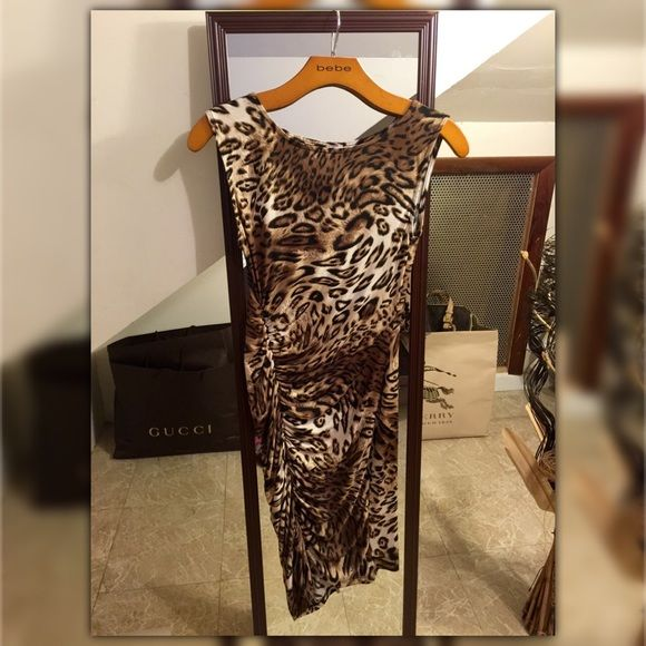 Animal print dress Has ruched gathering on side in great condition used only once! Dresses