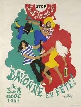 Affiche des fêtes de Bayonne en 1971