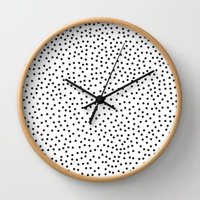 Dots.. Wall Clock | Priscilla Peress | Society6: