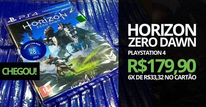 Horizon Zero Dawn acaba de chegar na GameStock!  R$179,90 à vista em dinheiro ou em até 6x de R$33,32 no cartão de crédito.  Quem comprou na pré-venda no valor à vista, será gerado um bônus de R$20,00 para compra na loja.  Rua Independência, 443 – São Leopoldo, RS Telefone: (51) 3037-6452 Whatsapp: (51) 986455457 #fashion #style #stylish #love #me #cute #photooftheday #nails #hair #beauty #beautiful #design #model #dress #shoes #heels #styles #outfit #purse #jewelry #shopping #glam…