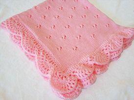 Pembe örgü battaniye modeli