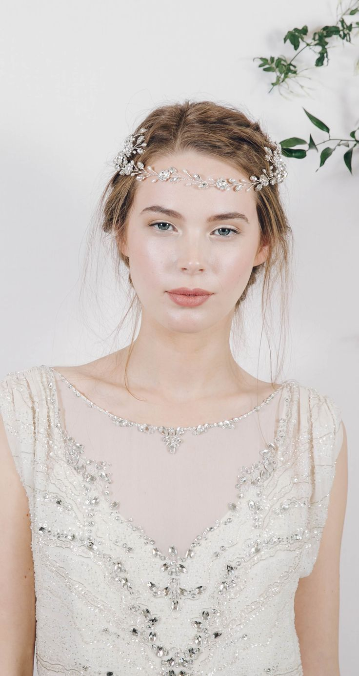 Cora crystal hair accessory from Debbie Carlisle lhttp://www.debbiecarlisle.com/collections/headpieces/products/bohemian-grecian-style-crystal-wedding-hair-accessory-cora