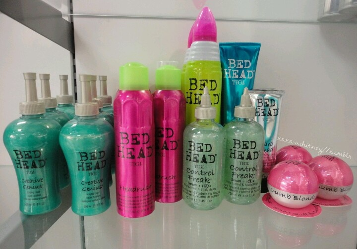 Love bed head hair products.<3 creative genius is an amazing scrunching product for lose beachy waves!