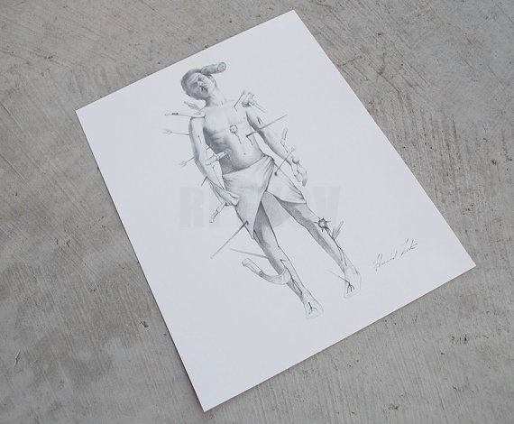 This sale is for a replica of the Wound Man drawing, as seen in the TV show Hannibal, Episode 6 Entrée. Poor Miriam Lass, if only she hadnt