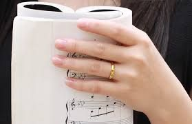 Image result for gold finger rings for couples