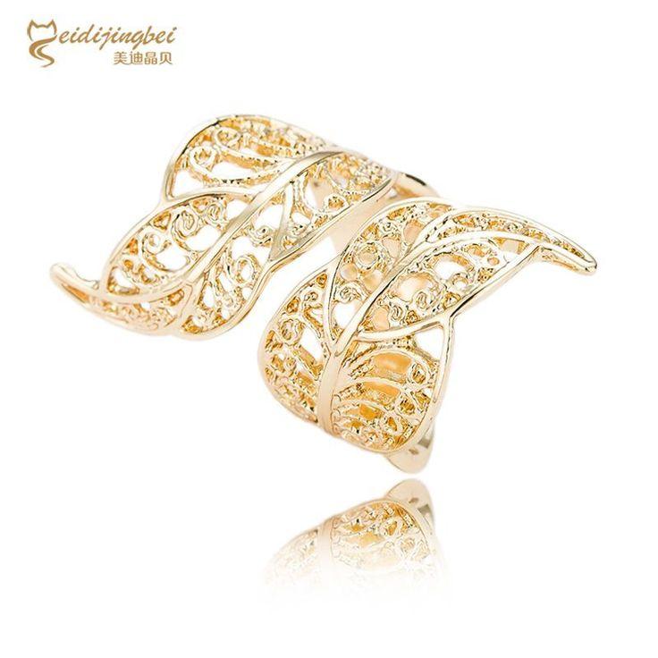 Vintage Gothic Rings Hollow Carved Flower Finger Rings Ladies Leaf  Wedding Punk Gothic Retro Leaf Finger Rings For Women