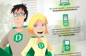 Illustration - Campagne sur le développement de la clientèle étudiante