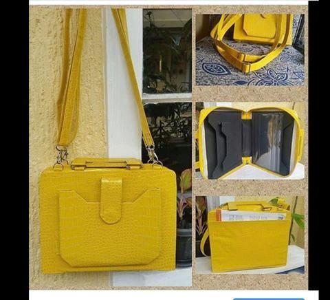 yellow crocs service bag