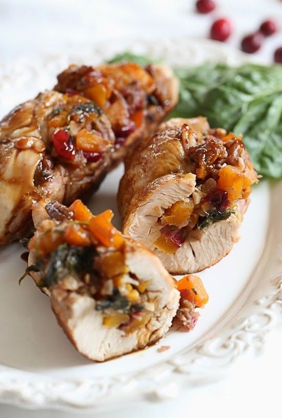 Turkey tenderloins stuffed with a sweet and savory filling of butternut squash, cranberries, sage and pecans – this tastes like Thanksgiving, all wrapped up in one dish! Honestly, the photos don't do this justice. I was having one of those days that I couldn't take a decent photo, but the turkey – it's amazing! And the leftovers were just as good the next day for lunch. Turkey tenderloins (the tender long strip of white meat hidden under the turkey breast) are very tender and excellent...