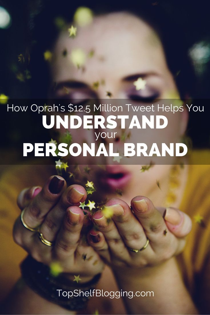 Wow, see what tidbits you can learn from Oprah making millions of dollars with a single tweet. It relates to your personal brand and your blog.