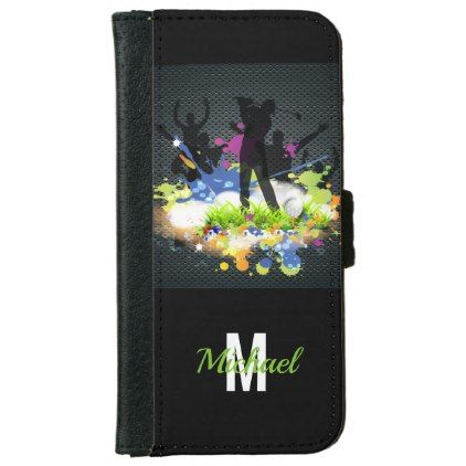 Golf Swing Supporters Cheer Modern Wallet Phone Case For iPhone 6/6s - modern gifts cyo gift ideas personalize