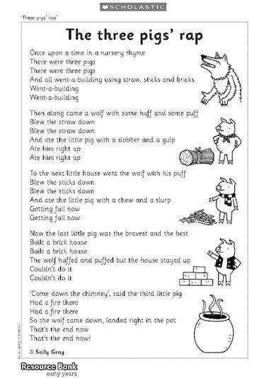 Rap Along With This Fun Poem About The Three Little Pigs