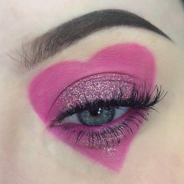 #makeup #heart #pink
