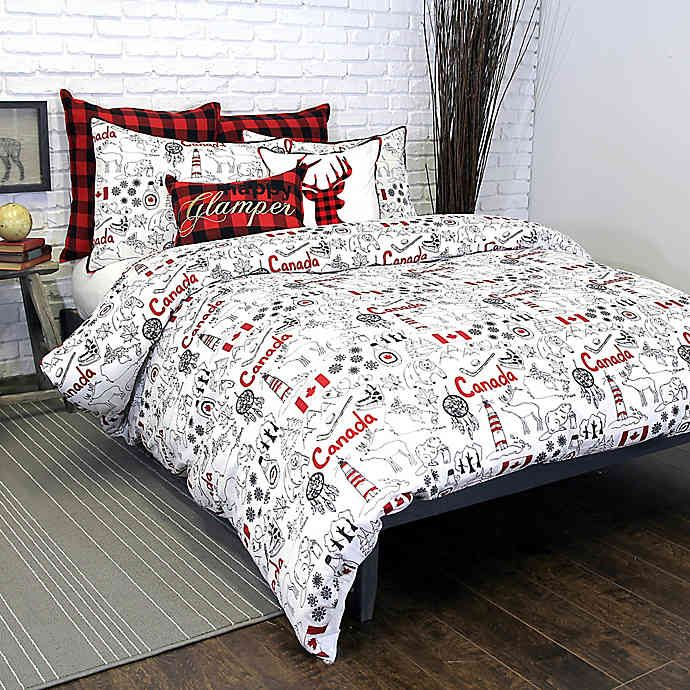 Alamode Home Great White North Duvet Cover Bed Bath And Beyond