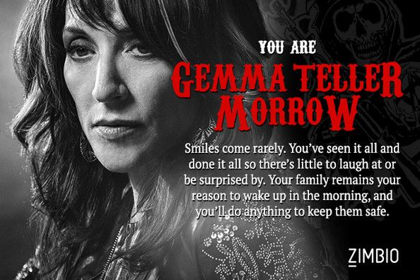 Gemma Teller Morrow - Which 'Sons of Anarchy' Character Are You? - Zimbio