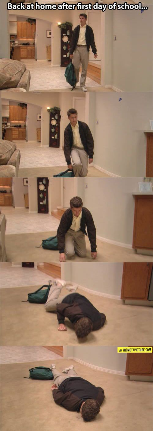 Anyone feeling this yet? After teaching all week, this is what I feel like when I get home on Friday.