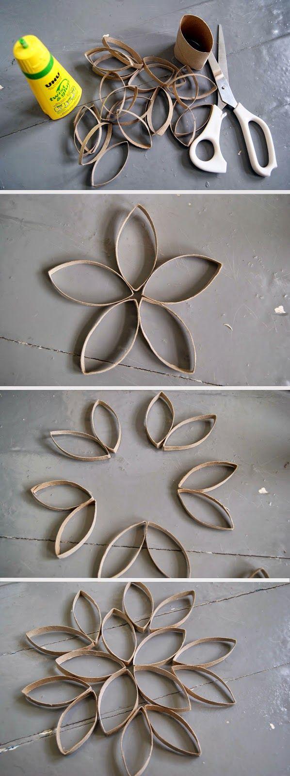 Un bricolage facile et rapide avec des rouleaux de papier de toilette. C'est parfait pour décorer un appartement!