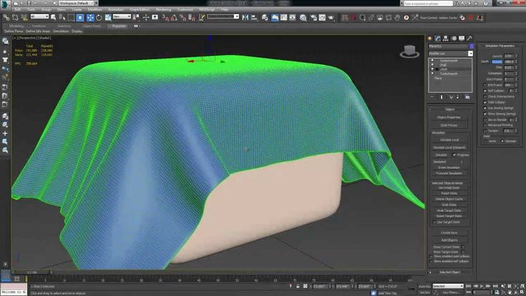 3ds Max Tutorial (Beginner) -- Cloth Simulation