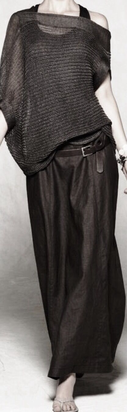 Sarah Pacini...the drapes, the colors with texture and the belt