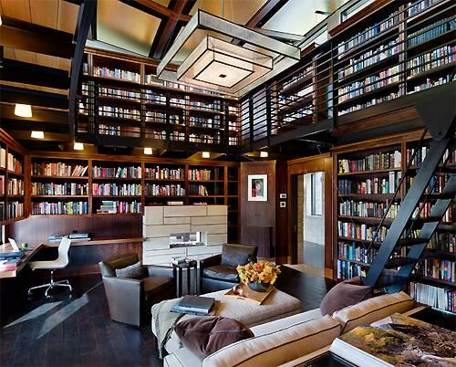 Chill Little Home Library Library Dreams Pinterest