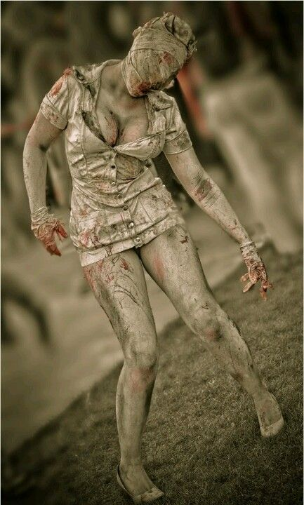 One of the Nurses from Silent Hill (movie)! Fantastic!