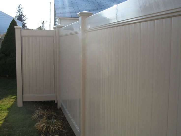 Wonderful Tan Vinyl Fencing Ft X Solid Privacy Intended Ideas