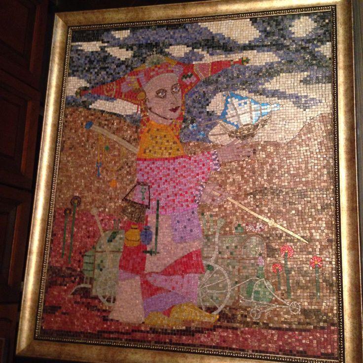 Изобретатель. Мозаика. Размер 670х770 mm.
