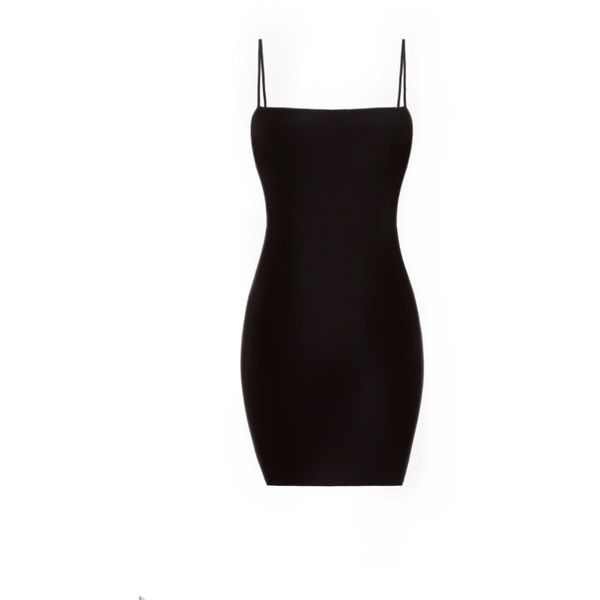 Straight Neck Mini Dress LOVE ❤ liked on Polyvore featuring dresses, double layer dress, short layered dress, straight dresses, layered dress and short fitted dresses